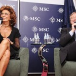 Msc Splendida, battesimo da star